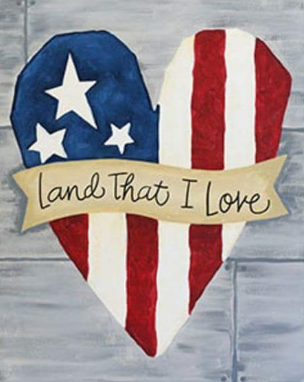 paint night patriotric painting